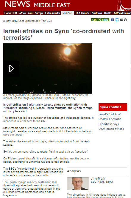 'coordinated with terrorists'