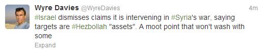Davies tweet 'intervening'