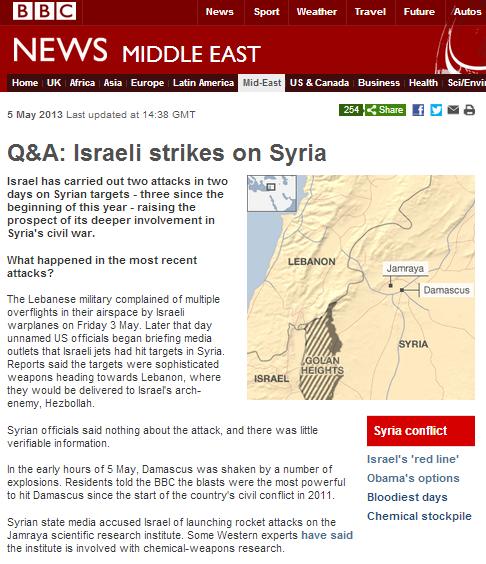 BBC Q&A on alleged Israeli air strikes is political polemic