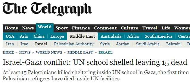 Guardian incites the crowd: Israel quickly blamed for Gaza school attack
