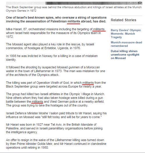Munich Olympics terrorists get BBC rebranding