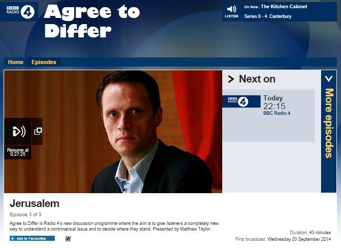 BBC R4 promotes unchallenged anti-Israel propaganda and warped histories of Jerusalem