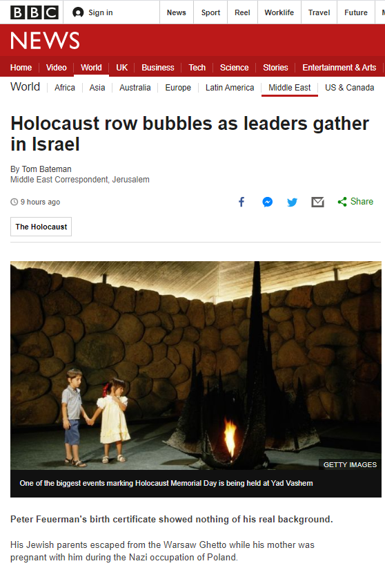 BBC's Bateman shoehorns 'occupation' into Holocaust remembrance report