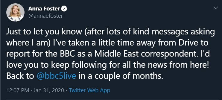 A new BBC correspondent in Jerusalem