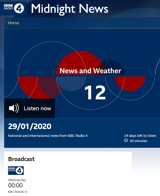 BBC Radio 4 news implies previous existence of Palestinian state in US plan report