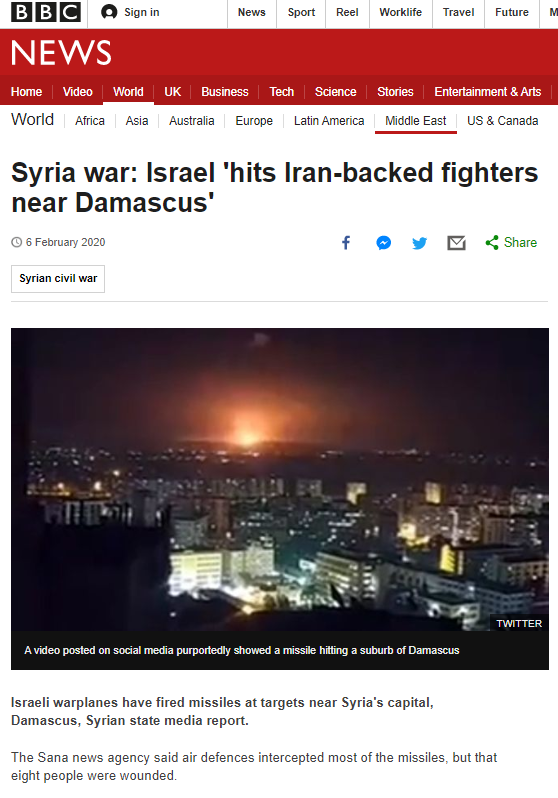 BBC News again recycles Syrian regime propaganda